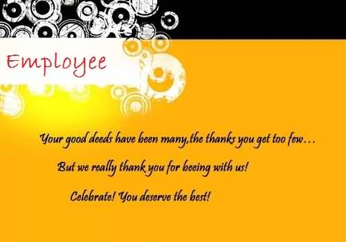Ultimate E Card Birthday Wishes For Employee