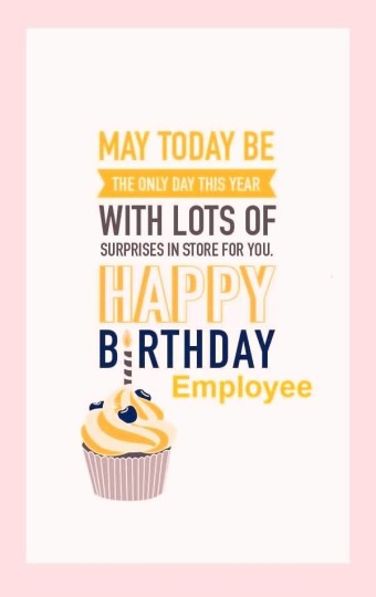 Unique E-Card Birthday Wishes For Employee