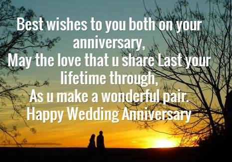 Wonderful Message Anniversary Wishes For Friends