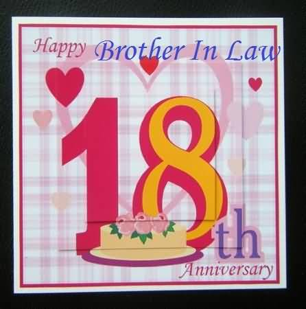 Amazing 18th Anniversary Wishes For Brother In Law Graphic