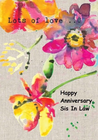Amazing Anniversary Wishes For Sister In Law Graphic
