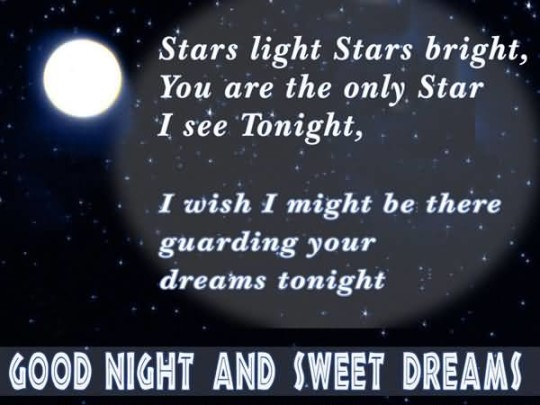 Amazing Message Good Night And Sweet Dreams Wallpaper