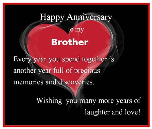 Awesome Anniversary Wishes For Brother Greetings