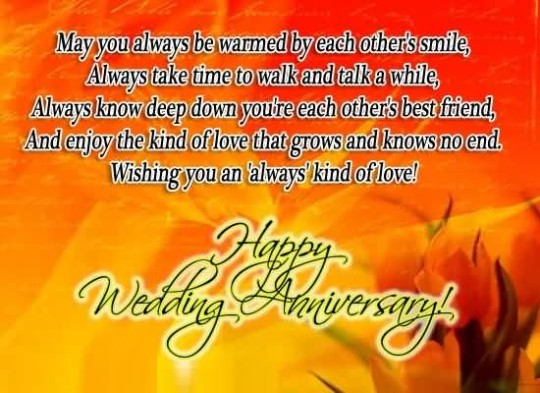 Awesome Anniversary Wishes For Brother Image