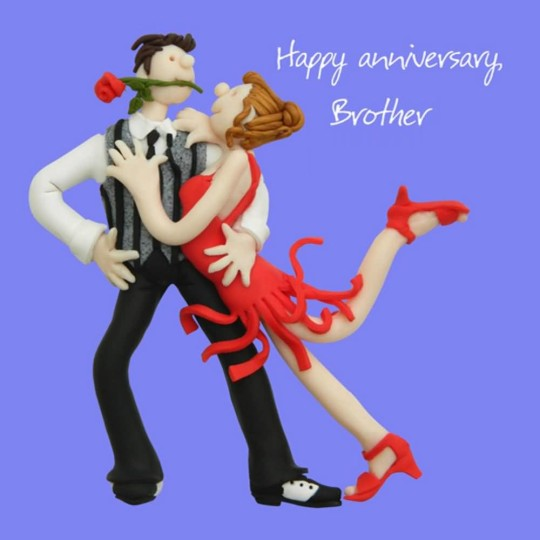 Awesome Funny Anniversary Wishes For Brother Image