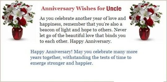 Awesome Message Anniversary Wishes For Uncle Graphic