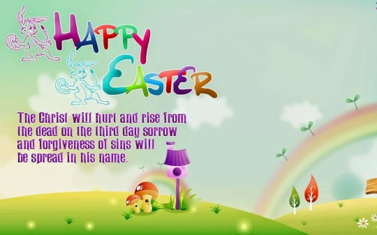 Awesome Message Happy Easter Wallpaper