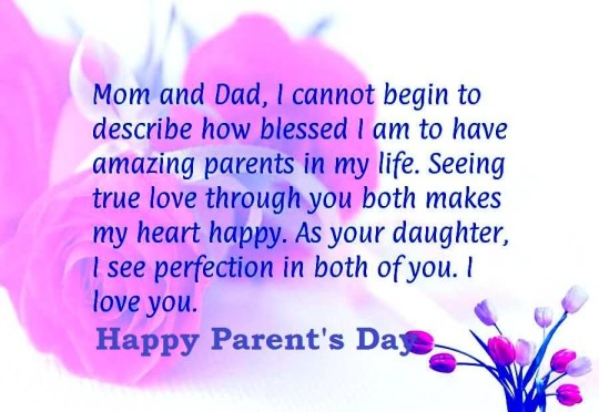 Awesome Message Happy Parent's Day Image