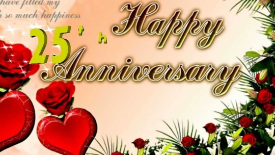 Beautiful Greetings 25th Anniversary Wishes For Uncle