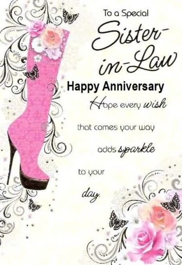 Beautiful Greetings Anniversary Wishes For Sister In Law