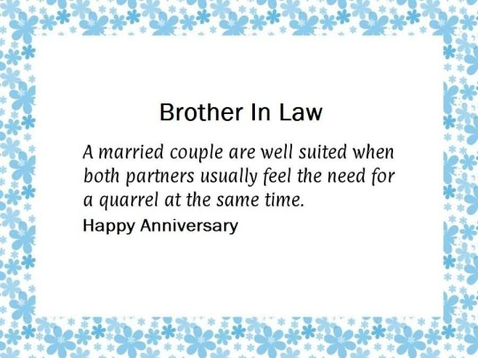 Best Message Anniversary Wishes For Brother In Law Graphic
