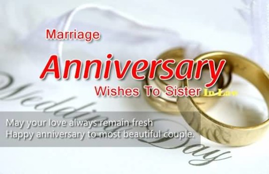 Best Message Anniversary Wishes For Sister In Law Image
