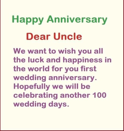 Best Message Anniversary Wishes For Uncle Graphic
