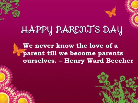 Best Message Happy Parent's Day Image