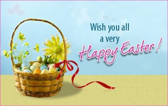 Best Wishes Happy Easter Wallpaper