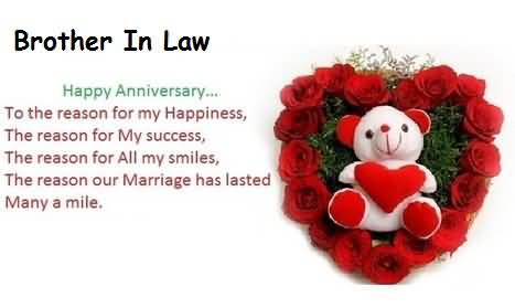 Brilliant Anniversary Wishes For Brother In Law Graphic