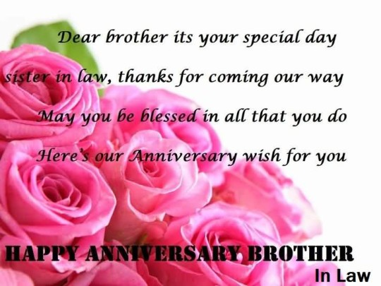 Cool Message Anniversary Wishes For Brother In Law Wallpaper