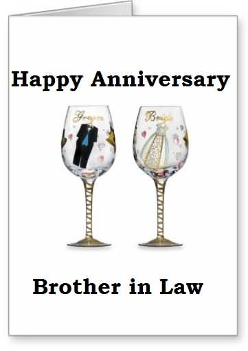 Cute Anniversary Wishes For Brother In Law Image