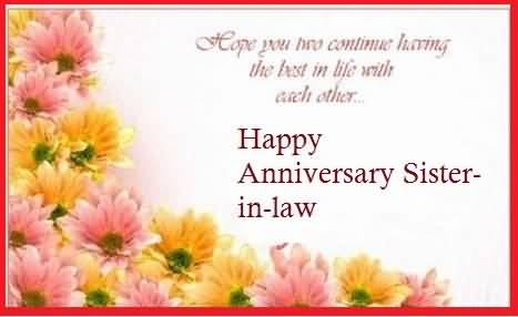 Cute Anniversary Wishes For Sister In Law Wallpaper