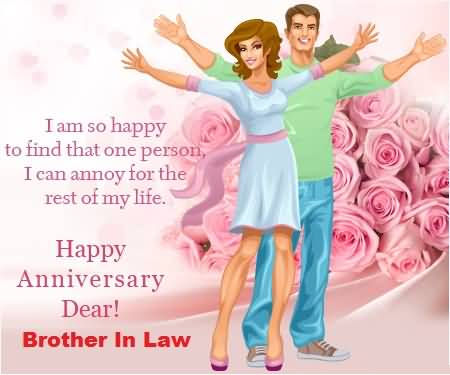 Cute Message Anniversary Wishes For Brother In Law Image