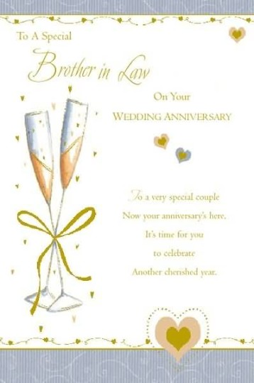 Fabulous Greetings Anniversary Wishes For Brother In Law