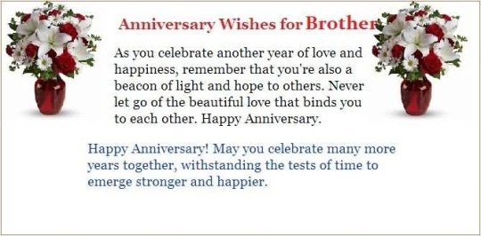 Fabulous Message Anniversary Wishes For Brother Image