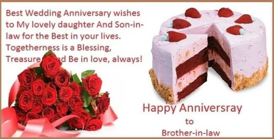 Fabulous Message Anniversary Wishes For Brother In Law Image