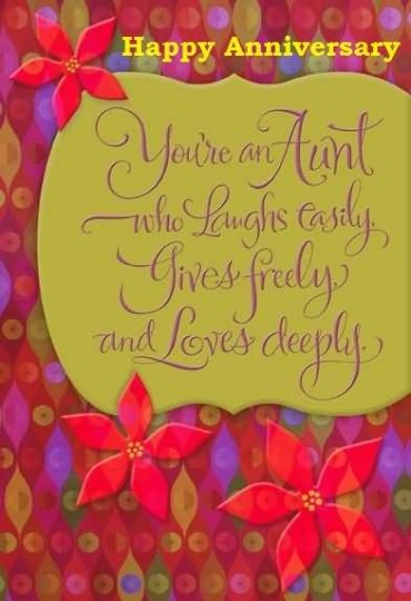 Great Anniversary Wishes For Aunt Graphic