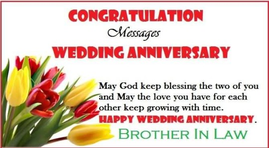 Great Message Anniversary Wishes For Brother In Law Image