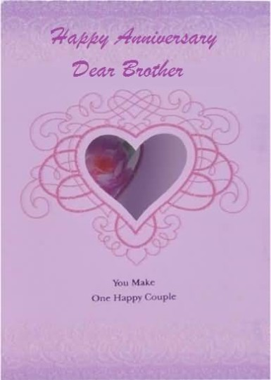 Latest Anniversary Wishes For Brother E-Card