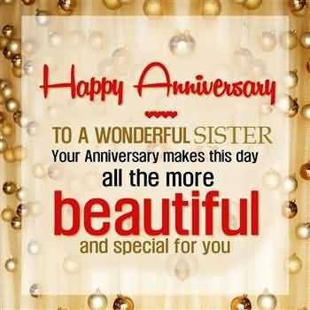 Latest Anniversary Wishes For Dear Sister E-Card