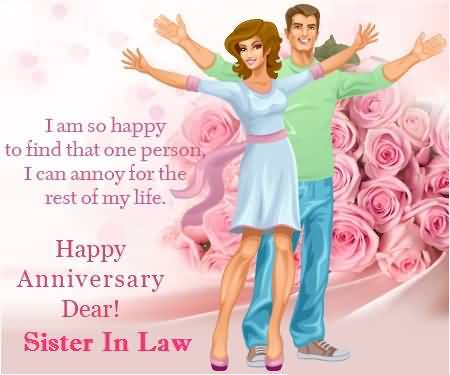 25th Wedding Anniversary Gift For Sister And Brother In Law : Lovely E-Card Birthday Wishes For Dear Sister In Law Nicewishes.com