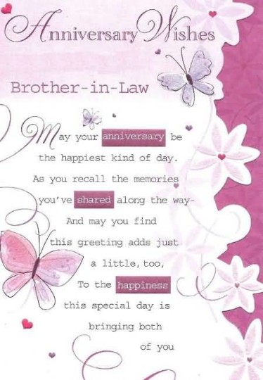 Latest Greetings Anniversary Wishes For Brother In Law Nice Wishes