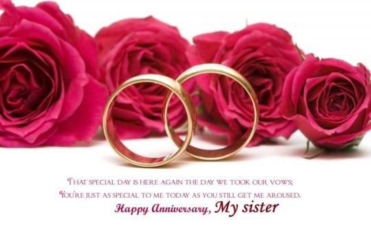 Latest Greetings Anniversary Wishes For Sister
