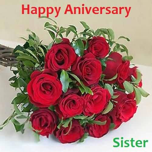 Lovely Anniversary Wishes For Dear Sister Wallpaper