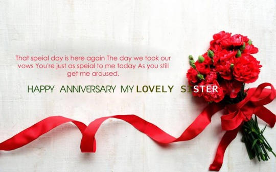 Lovely Greetings Anniversary Wishes For Sister