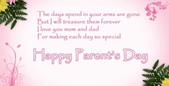 Lovely Happy Parent's Day Greetings