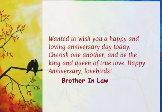 Lovely Message Anniversary Wishes For Special Brother In Law