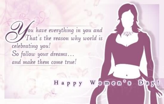 Lovely Quote Happy Women's Day Picture