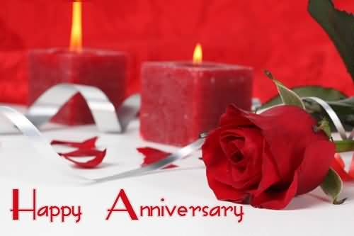 Lovely Red Rose Anniversary Wishes For Brother Image