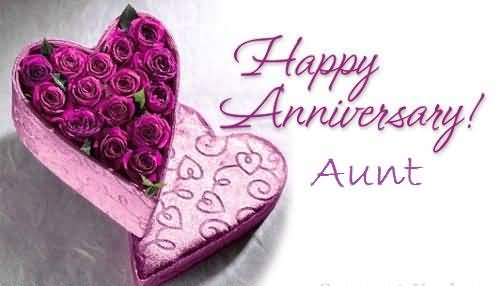 Mind Blowing Anniversary Wishes For Aunt Graphic