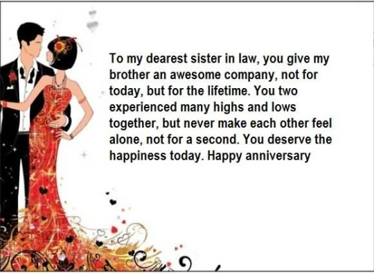 Mind Blowing Greetings Anniversary Wishes For Sister In Law