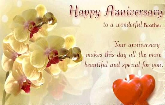 Most Beautiful Greetings Anniversary Wishes For Brother