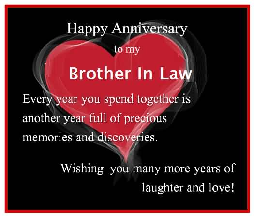 Nice Anniversary Wishes For Brother In Law Graphic