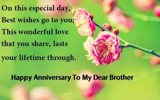 Nice Anniversary Wishes For Brother Wallpaper