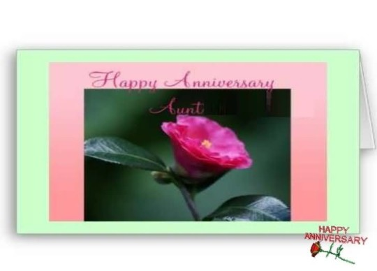Nice E-Card Anniversary Wishes For Aunt