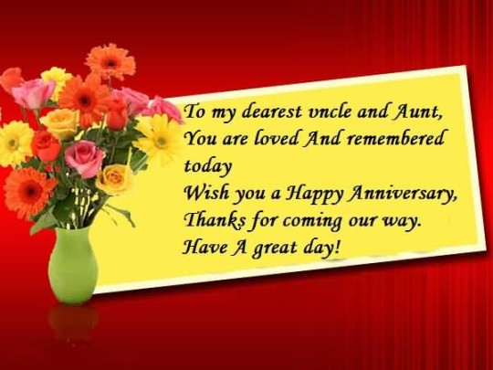Nice Greetings Anniversary Wishes For Uncle
