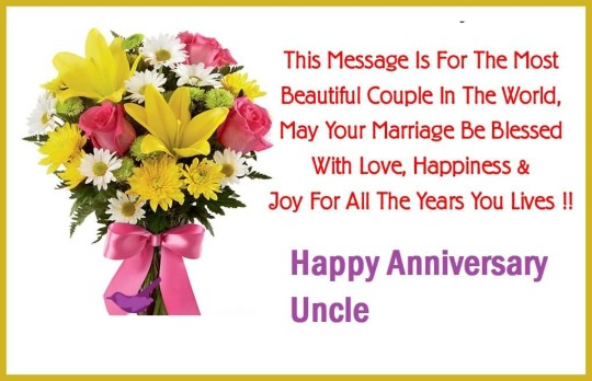 Nice Message Anniversary Wishes For Dear Uncle Wallpaper