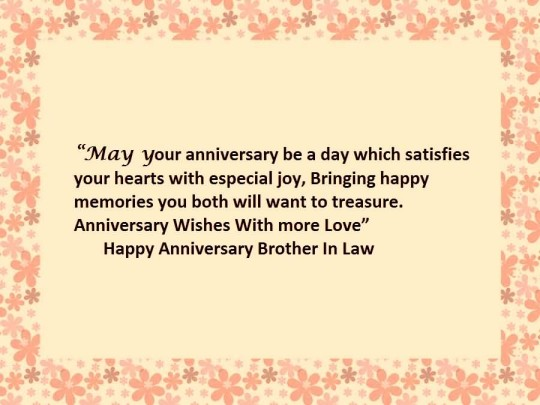 Nice Quote Anniversary Wishes For Brother In Law Graphic