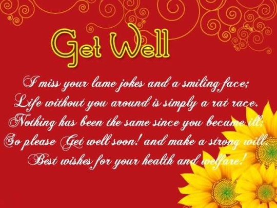 Outstanding Message Get Well Soon Wallpaper
